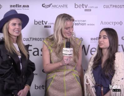 Анастасия Сличная и Ирина Пожарская. Interview for #FashionWeekTV