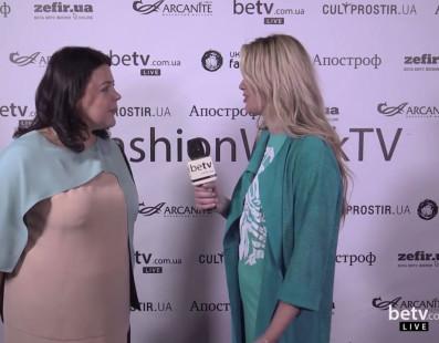 Елена Голец. Interview for #FashionWeekTV