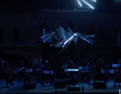 Украинский импровизационный оркестр. Аудиовизуальная импровизация .avi. Сет 2. Гогольфест 2015