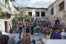 Украинский имровизационный оркестр на фестивале 16+