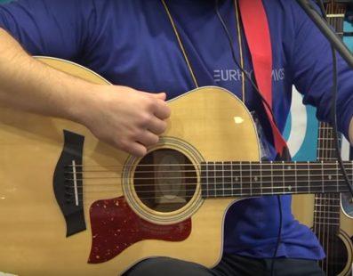 ЮРИТМІКС. Роман Кузнецов — презентація гітари Taylor + Boss ACS PRO. Музичний ярмарок 2017