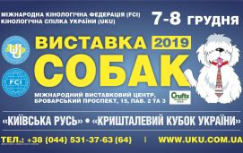 08.12.2019. FCI-CACIB «КРИШТАЛЕВИЙ КУБОК УКРАЇНИ — 2019»